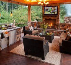 outdoor kitchen luxury - Google Search