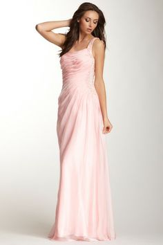 La Femme Encrusted Rhinestone One Shoulder Dress by Special Occasion Dresses on @HauteLook