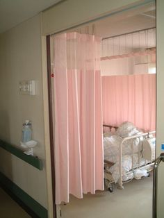 the only appealing thing about that room, if a hospital room can be appealing in anyway, was the pink curtains hung up about my bed. Tsuyu Asui, Nurse Aesthetic, Izzie Stevens, Mikan Tsumiki, Ac New Leaf, Hospital Room, Hospital Photos, Your Lie In April, Super Danganronpa