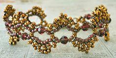 Linda's Crafty Inspirations: Free Beading Pattern: Dime Store Bracelet