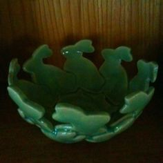 Bunny bowl by Julie Ott=cookie cutter uses!