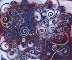 Filigree polymer clay Mokume Gane Panel by cvalphen.deviantart.com on @deviantART