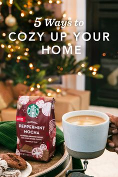 Immerse yourself in the holiday spirit with these simple tips to create the perfect home atmosphere—starting with a cozy cup of Peppermint Mocha. Christmas Snacks, Winter Christmas, Starbucks Peppermint Mocha, Coffee Reading, Starbucks Drinks, Merry And Bright, Holiday Parties, Holiday Ideas, Love Food