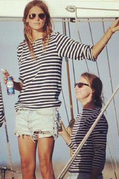 a classic shot: stripes and sailing go hand-in-hand @Jenny McIntire  we'll be doing this soon! xoxoxoxo