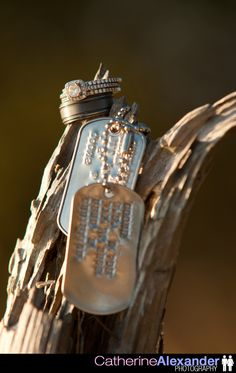 Dog tags and rings - awesome photo (and love the rings)!!