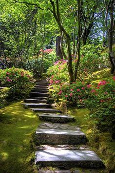 Garden Path ~~ Photograph by Brad Granger