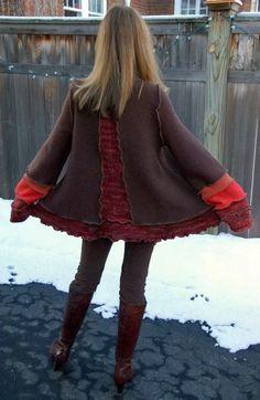Farb-und Stilberatung mit www.farben-reich.com - Recycled Sweater Coat