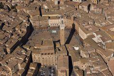 Siena, Piazza del Campo - Veduta aerea