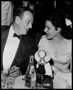 John Wayne and Maureen O'Hara (via Maureen O'Hara Magazine on Facebook Official Site)