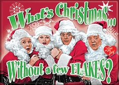 i love lucy christmas flakes - I Love Lucy Christmas