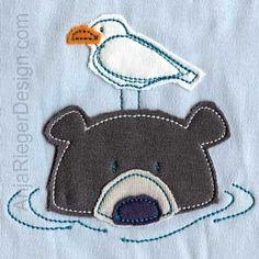 "Embroidery Design ""Bathing Bear"""