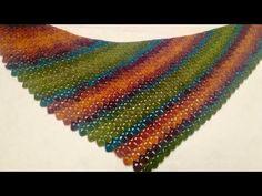 Crochet with Easy Triangle Bakture Shawl Making - Yo . Crochet Ripple, Crochet Afgans, Crochet Dishcloths, Crochet Shawl, Diy Crochet, Crochet Hooded Scarf, Crochet Scarves, Crochet Clothes, Lace Patterns