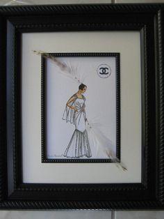 1930 Coco Chanel framed 11x 14 fashion by claudiacreates on Etsy
