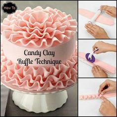 Ruffle technique. DIY tutorial. Decorating cakes and cupcakes.