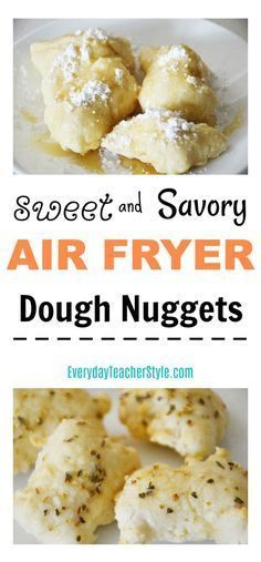 Sweet and Savory Air Fryer Dough Nuggets Recipe, great for breakfast, dessert, a snack, or even an appetizer! Another awesome air fryer recipe -- Everyday Teacher Style Fried Dough Recipes, Oven Recipes, Donut Recipes, Mexican Food Recipes, Great Recipes, Cooking Recipes, Favorite Recipes, Kid Recipes, Cheese Recipes