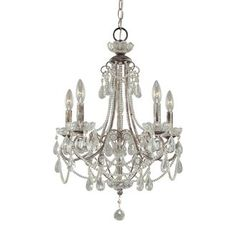 View the Minka Lavery 3134 5 Light Crystal Tear Drop Up Lighting Mini Chandelier at Build.com.