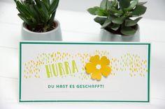 """Karte """"du hast es geschafft"""" mit dem Stempelset Beste Grüße von Stampin' Up! puenktchenstempel.de"""