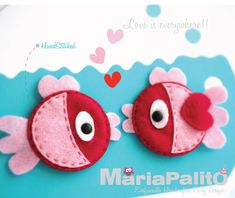 Felt fish magnets sneak peek | Hand Crafted Party Design By MariaPalito
