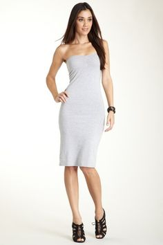Jersey Strapless Ruched Dress by American Apparel on @HauteLook