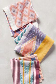 Patternful cocktail napkins