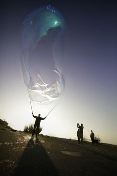 Soap Bubble at Sunset