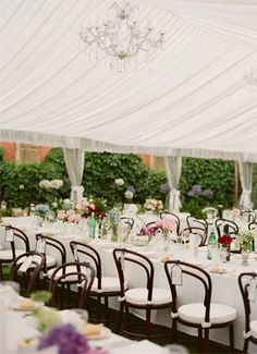 Beautiful tent decor. Love the hairpin chairs! Photo by Jemma Keech Photography. www.wedsociety.com #wedding #decor