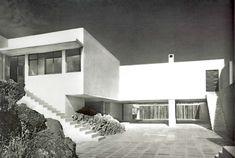 Casa de Muestra en Fuentes 140, Jardines del Pedregal, México, DF 1950    Arq. Max Cetto    Fotos: Armando Salas Portugal -    Model House by Max Cetto, Calle Fuentes 140, Pedregal, Mexico City, 1950