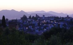 Dusk - Albaicin, Granada, Spain.