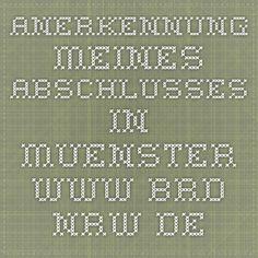 Anerkennung meines Abschlusses in Muenster www.brd.nrw.de