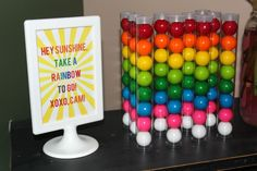 'Rainbow to go' party favor