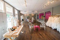 Ivory Bridal & Formal. bridal salon, bridal shop, bridal boutique, decor