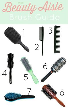 The Ultimate Hair Brush Guide! Find out which hair brush is best for your hair! http://www.thebeautyaisle.com/