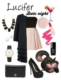 Lucifer - Date night by fashion-from-disney on Polyvore featuring polyvore, мода, style, David Koma, Amanda Wakeley, Miss KG, Chanel, Kate Spade, Topshop, Reeds Jewelers, Bare Escentuals, Paul & Joe, fashion and clothing