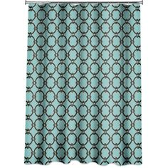 Amazon.com - Links Peva Shower Curtain, Turquoise Blue - Brown And Turquoise Shower Curtain