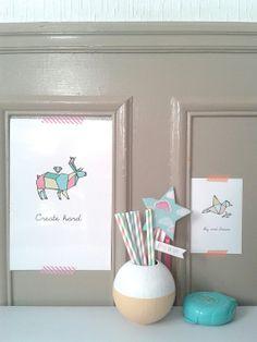 """Set de 5 cartes origami Animaux par LovelyStuff4kids sur Etsy Set of 5 pictures origami """"animals"""""""