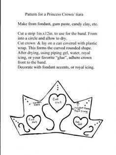 pattern for  Princess Crown  (tiara)