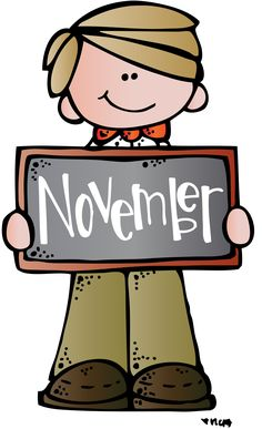 November mkb (c) Melonheadz Illustrating LLC 2014 colored. Free Clipart Images, School Clipart, Borders And Frames, Memory Books, Cute Images, Months In A Year, Classroom Decor, Art School, Preschool Activities