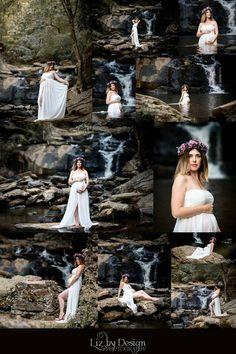 Hidden waterfall maternity shoot, magical, beautiful but shhh this location is my secret. Atlanta Ga