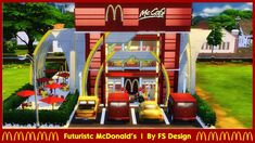 The Sims 4 Lots, Mcdonald's Restaurant, Mcdonalds, Futuristic, Inspiration, Design, Biblical Inspiration, Inspirational