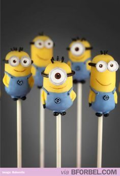 Minion Cake Pops!  I could buy that cake pop maker just to make these. :)