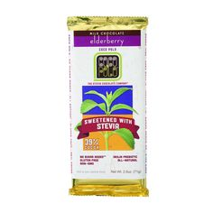 Coco Polo Chocolate Bar - 39 Percent Milk Elderberry - Case of 12 - 2.5 oz Bars