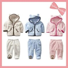 1pcs for retail,Winter thick, super warm fleece baby hoodies set, infant wear with soft fleece, free shipping, on AliExpress.com. $22.60
