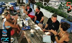 The Open water briefings just in our Career Development Center just 5 min away from our open water training site. Are we spoiling you! Yes we do!
