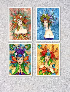 Special offer Art print set  Illustrations print  Set of by ArteRo