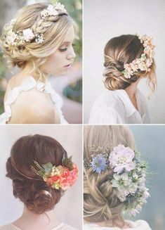 Floral wreath in open hair. Wedding hairstyle with flowers. www … Floral wreath in open hair. Wedding hairstyle with flowers. Wedding Hair Down, Wedding Hair Flowers, Flowers In Hair, Floral Flowers, Open Hairstyles, Wedding Hairstyles, Medium Hair Styles, Short Hair Styles, Wedding Hair Inspiration