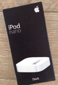 Apple 1st Generation iPod Nano Dock Cradle MA072G/A New | Cell Phones & Accessories, Cell Phone Accessories, Chargers & Cradles | eBay!