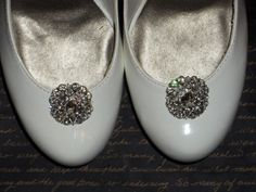 Bridal Shoe Clips  set of 2  Sparkling Crystal by ShoeClipsOnly, $34.00