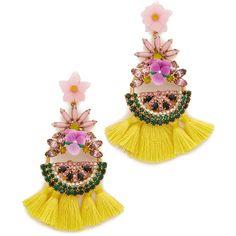 Elizabeth Cole Watermelon Earrings ($305) ❤ liked on Polyvore featuring jewelry, earrings, watermelon, pink, multi colored earrings, elizabeth cole earrings, pink earrings, flower earrings and pink jewelry