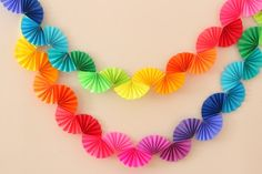 Rainbow Fan Garland {Easy DIY Party Decoration}