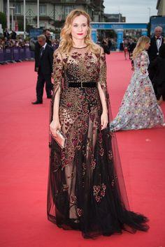 Diane Kruger en robe Elie Saab haute couture de la collection automne-hiver…